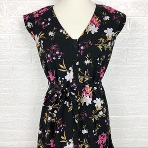 Collective Concepts Floral Short Sleeve Dress